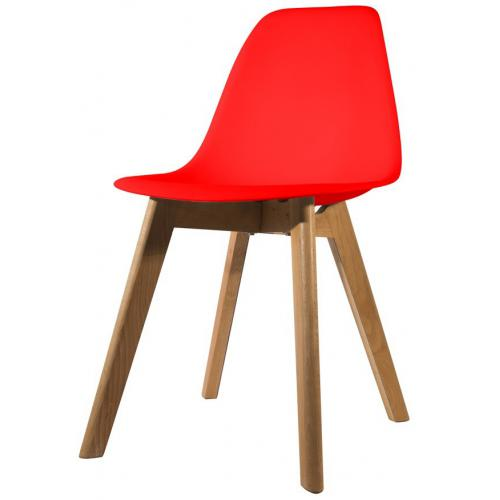 3S. x Home - Chaise Scandinave Coque Rouge ORKNEY - Chaise