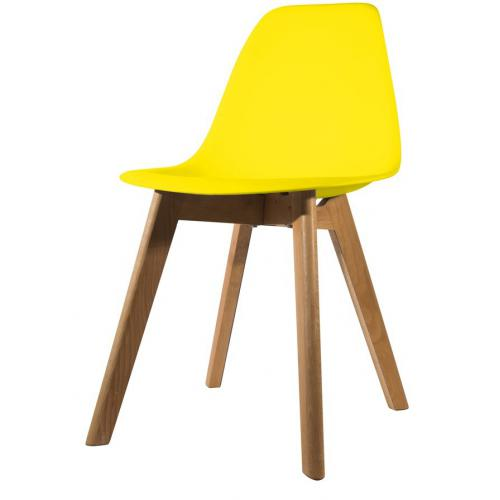 3S. x Home - Chaise Scandinave Coque Jaune ORKNEY - Chaise