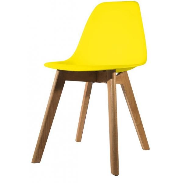 chaise scandinave coque jaune fjord 3 suisses. Black Bedroom Furniture Sets. Home Design Ideas