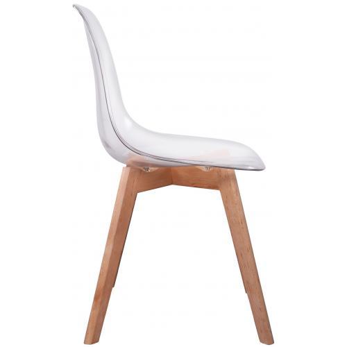 chaise scandinave transparente fjord 3suisses. Black Bedroom Furniture Sets. Home Design Ideas
