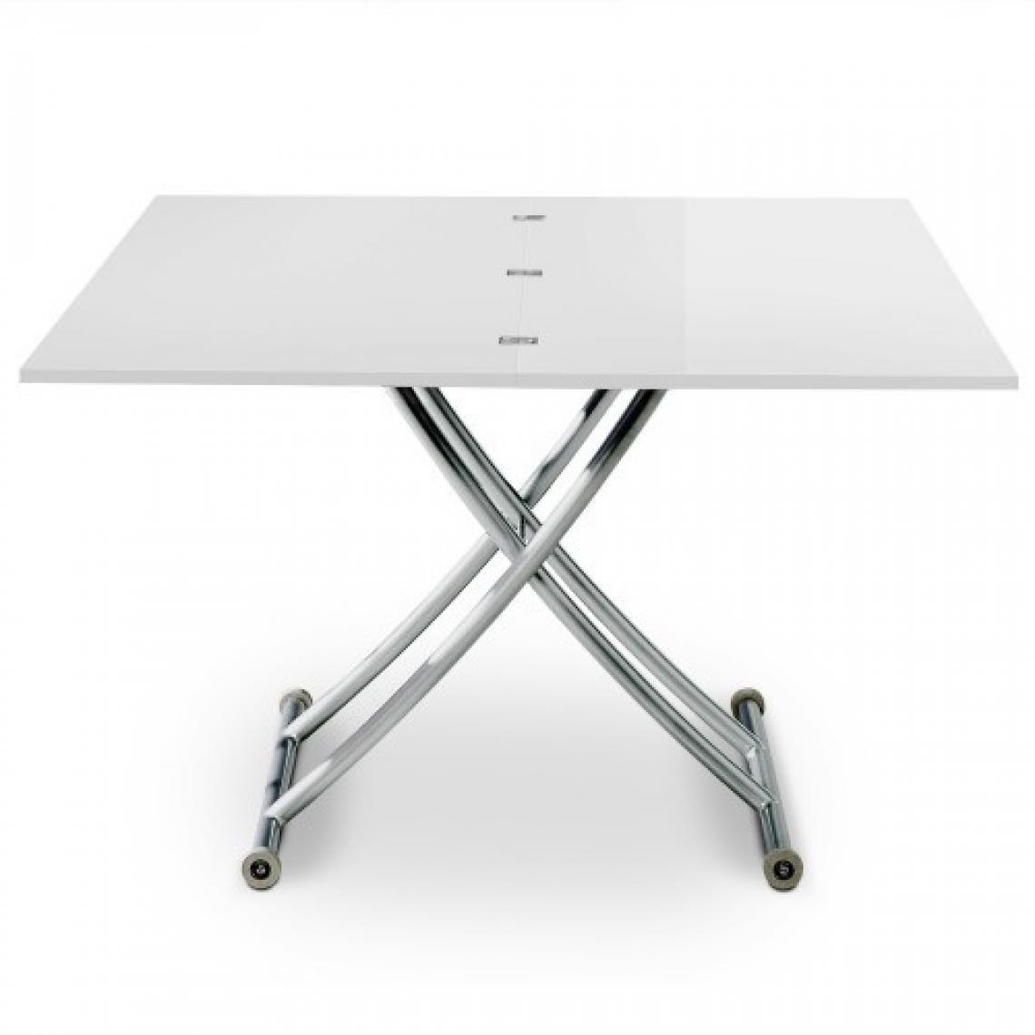 Table Blanche4 Basse À Chaises Relevable Bella Rallonges Grise jqVSLzpGUM