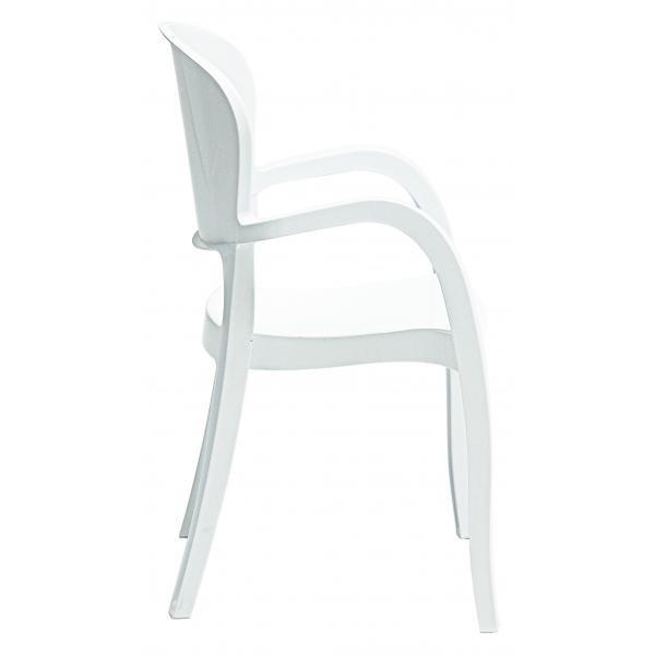 Lot De 2 Chaises Design Blanches Avec Accoudoirs GLAM