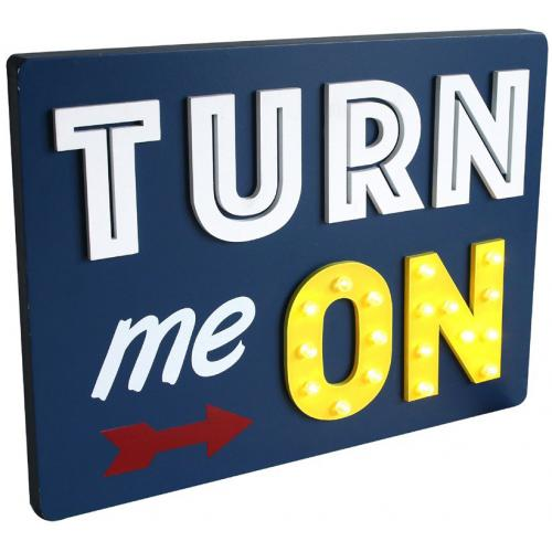 3 SUISSES - Deco Lumineuse Turn Me On DARK - Promotions Meuble & Déco