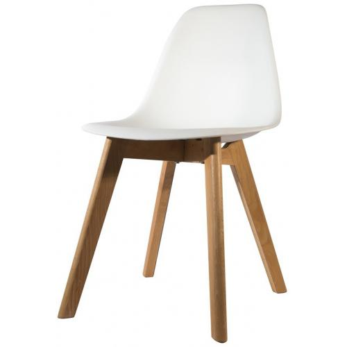 3S. x Home - Chaise Scandinave Coque Blanche ORKNEY - Meuble & Déco