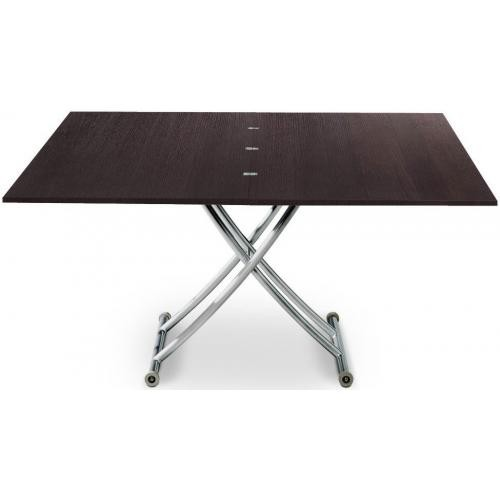 3S. x Home - Table Basse Relevable à Rallonge Bois Wenge ELLA - Table basse