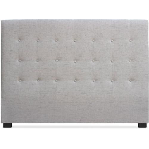 t te de lit 140 cm tissu beige chico 3 suisses. Black Bedroom Furniture Sets. Home Design Ideas