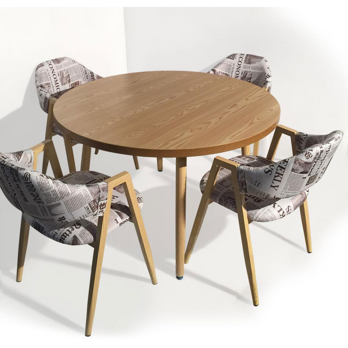 Table Ronde Style Scandinave Frêne BLONDIE