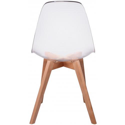 Lot de 2 chaises scandinave transparente fjord 3 suisses Chaise scandinave transparente casa