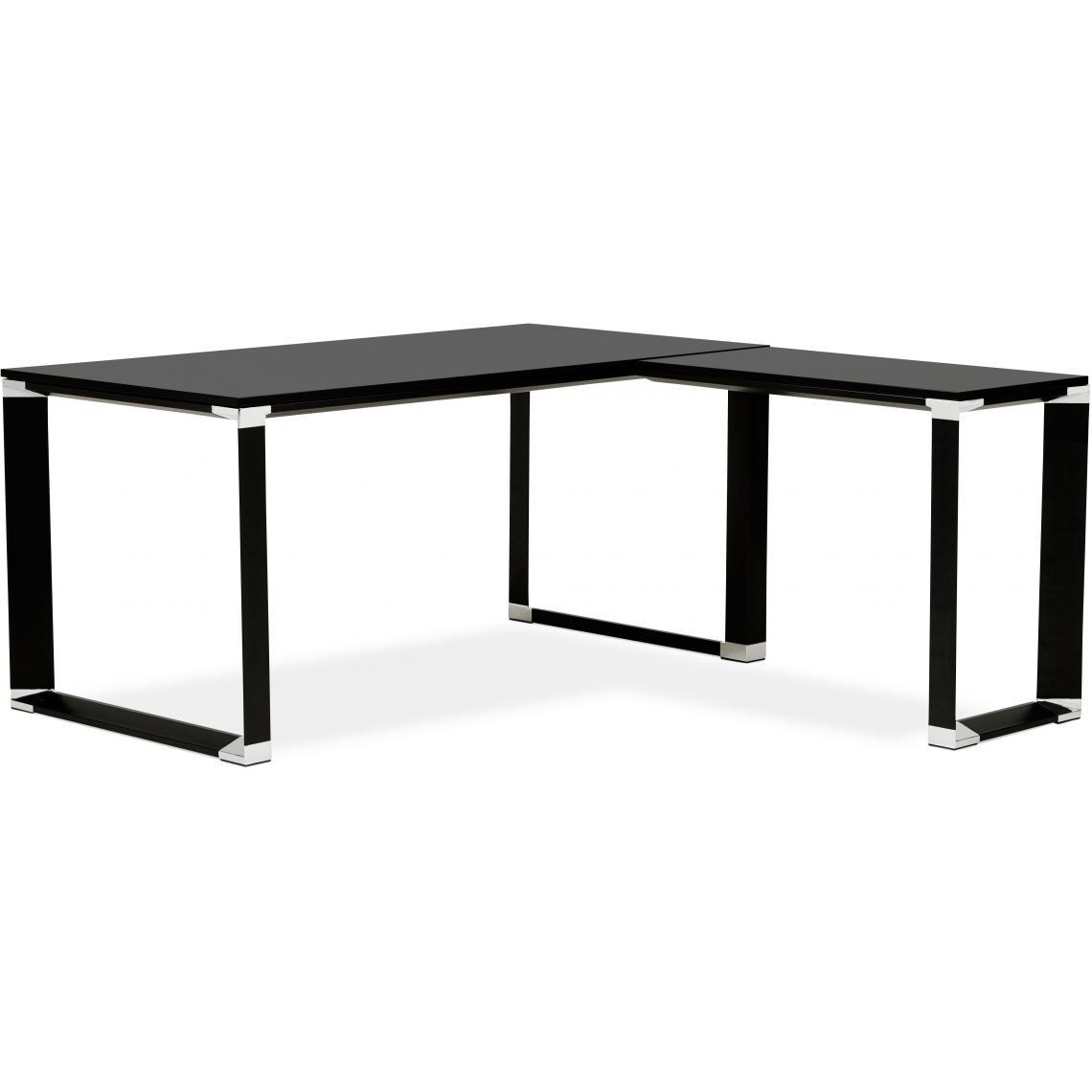 bureau d'angle noir 160x170x74 cm ricco  3 suisses