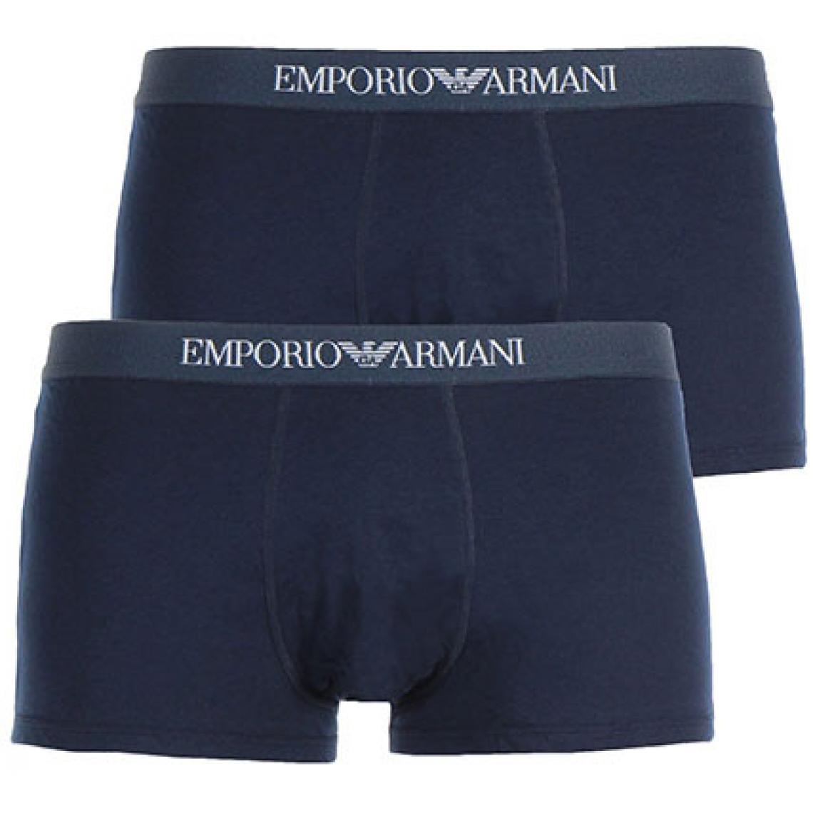 Pack de 2 boxers ceinture élastique - coton - Emporio Armani Underwear - Modalova