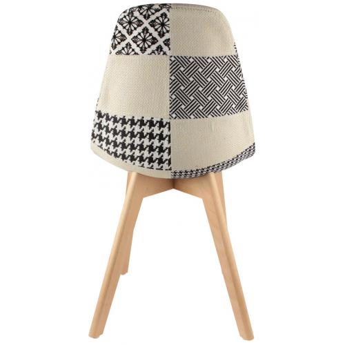 chaise scandinave patchwork bicolore fjord 3suisses. Black Bedroom Furniture Sets. Home Design Ideas