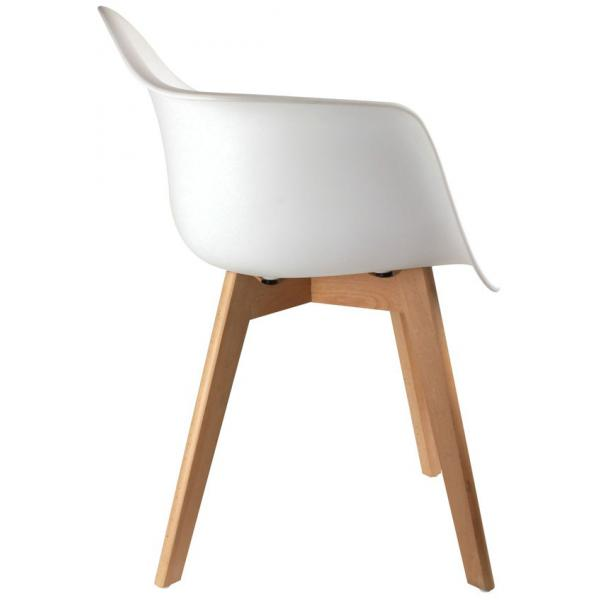 chaise scandinave avec accoudoir blanc orkney 3 suisses. Black Bedroom Furniture Sets. Home Design Ideas