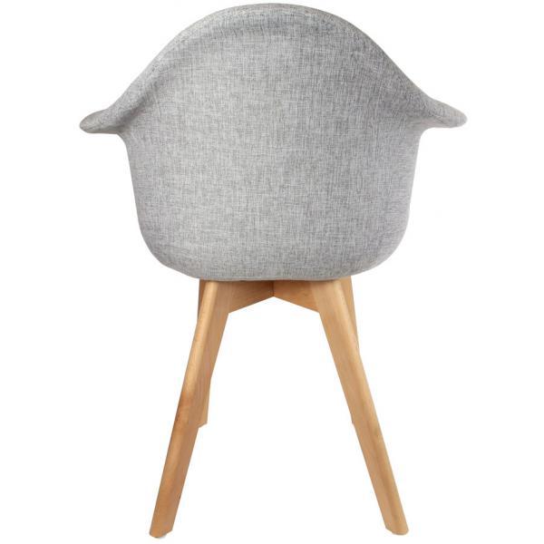 chaise scandinave avec accoudoir tissu gris orkney 3 suisses. Black Bedroom Furniture Sets. Home Design Ideas