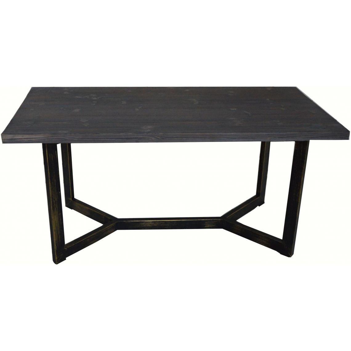 Table basse rectangulaire en métal et bois PALINO  7 SUISSES