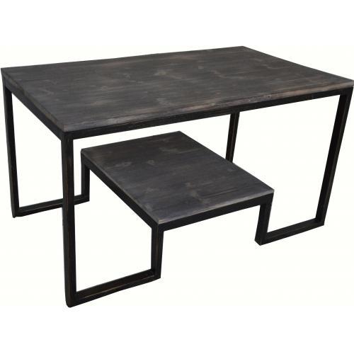 table basse 3 suisses table basse double plateau en m tal et bois aryan 3 suisses