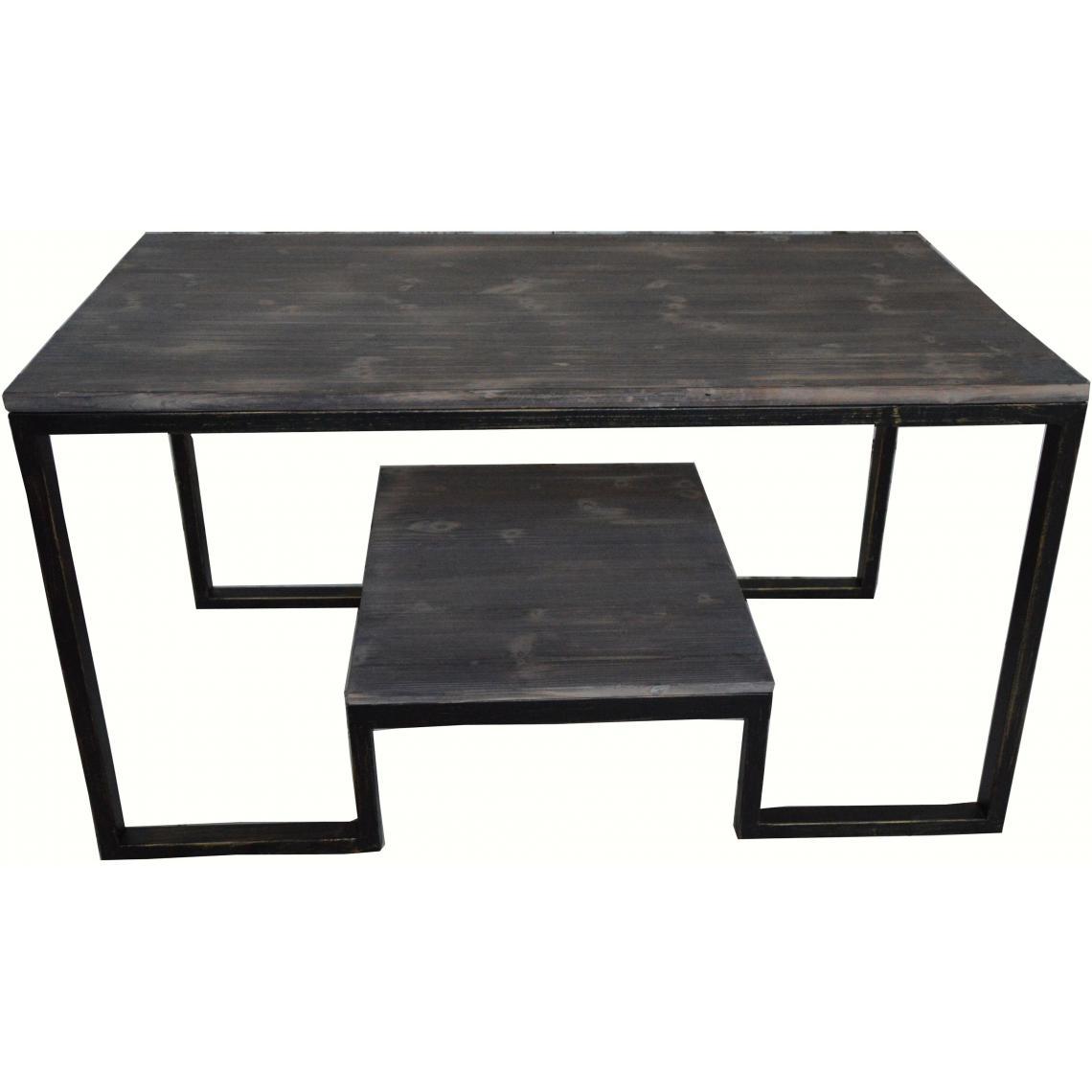 table basse double plateau en m tal et bois aryan 3 suisses. Black Bedroom Furniture Sets. Home Design Ideas