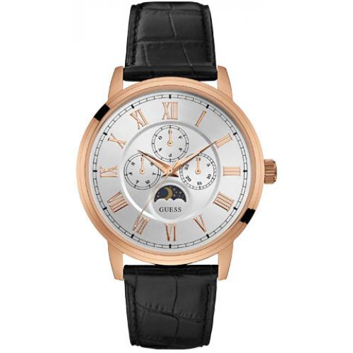 Guess Montres - Montre Guess W0870G2 - Montre Multifonction Cuir Homme - Promotions Homme