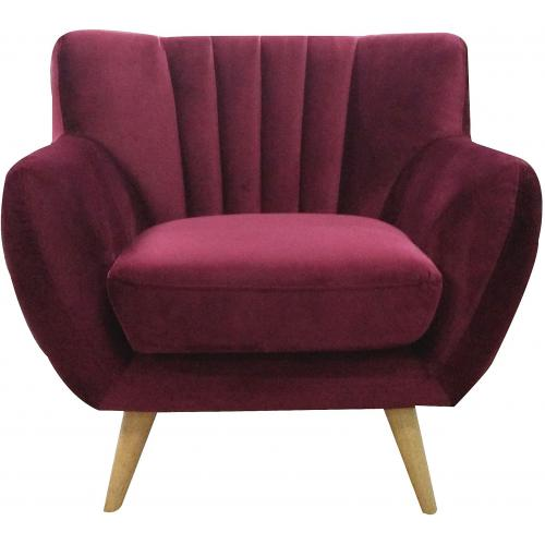 3S. x Home - Fauteuil en velours SHELLA - Scandinave