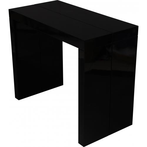 3S. x Home - Console extensible 180cm Noir Laque MAXIMB - Table extensible