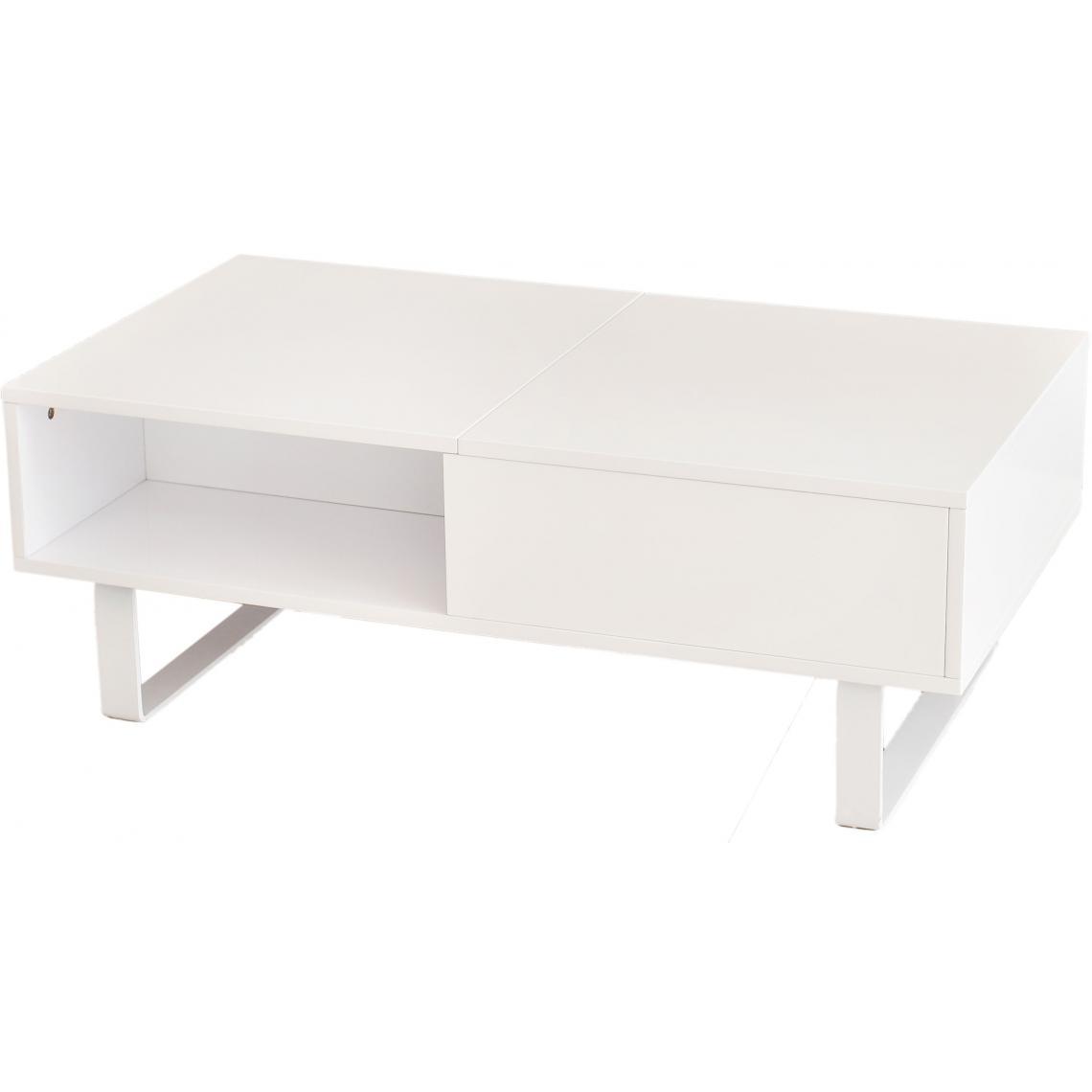 table basse blanche avec plateau relevable melvin 3 suisses. Black Bedroom Furniture Sets. Home Design Ideas
