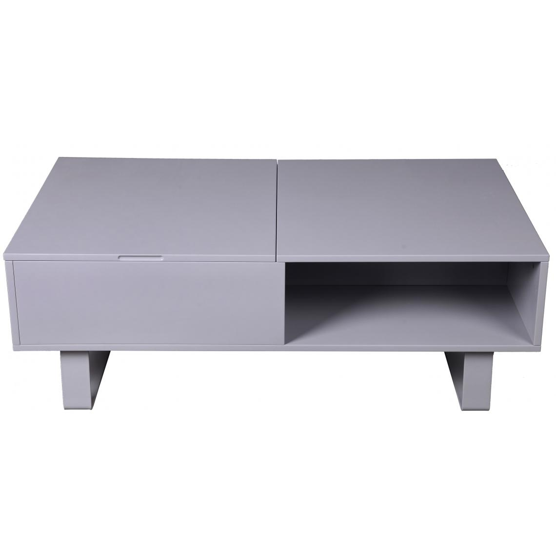 table basse grise avec plateau relevable melvin 3 suisses. Black Bedroom Furniture Sets. Home Design Ideas