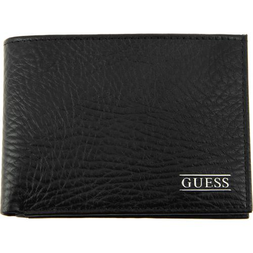 Guess Maroquinerie - Portefeuille Cuir Grainé 2 Volets - Horizontal - Guess Maroquinerie