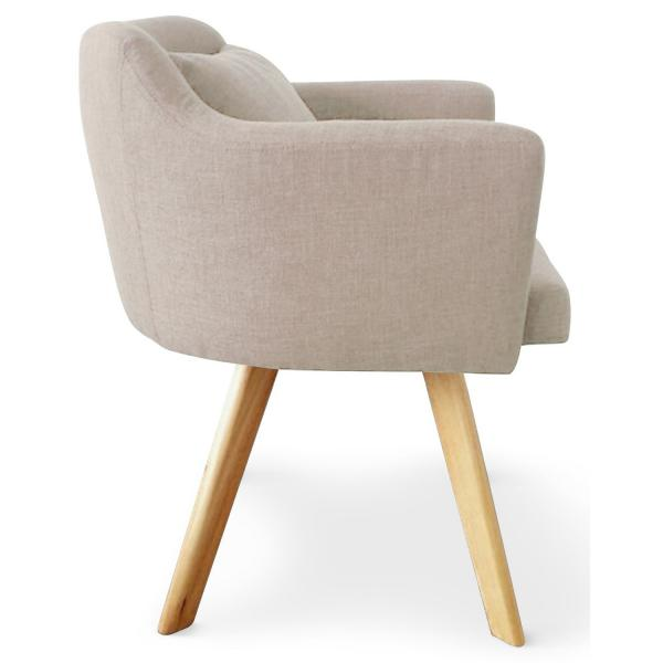 Fauteuil Scandinave beige LAYAL