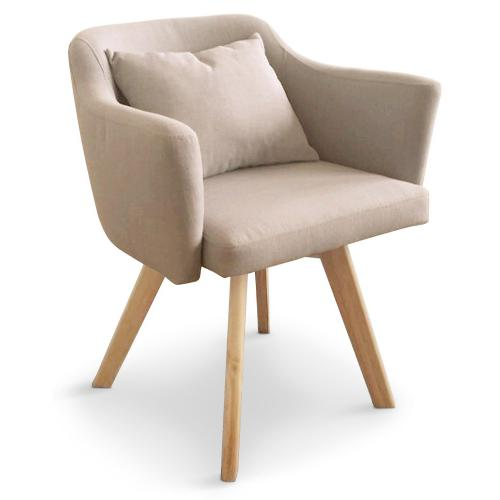3S. x Home - Fauteuil Scandinave beige LAYAL - Le salon