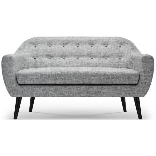 3S. x Home - Canapé scandinave 3 places tissu gris OLAF - canapes 3 places