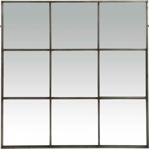 Miroir Industriel Pomax 9 Parties En Métal 118X118 BOXY