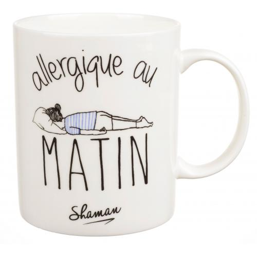 La Chaise Longue - Mug Comique Allergique Au Matin Blanc D10 MORNING - Promo Arts de la table