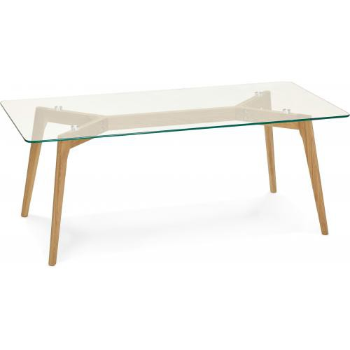 3S. x Home - Table basse avec plateau en verre transparent TAMPERE - Table basse
