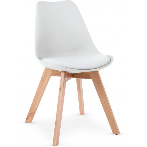 3S. x Home - Lot de 4 Chaises Scandinaves Blanches SYDALS - Chaise