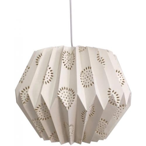 3S. x Home - Suspension Style Origami Fleur Blanche STAR - Luminaire