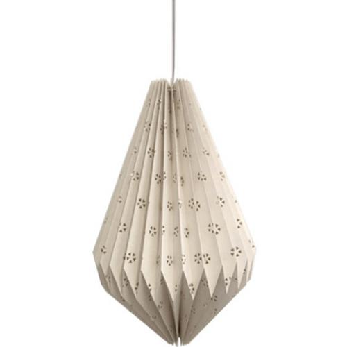 3S. x Home - Suspension Style Origami Long Ajourée Blanche ORIGAMANIA - Luminaire
