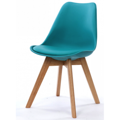 3S. x Home - Chaise Design Style Scandinave Turquoise HADES - Meuble & Déco