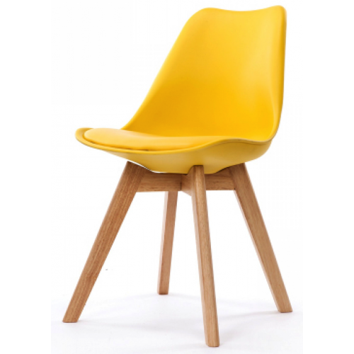 3S. x Home - Chaise Design Style Scandinave Jaune HADES - Chaise