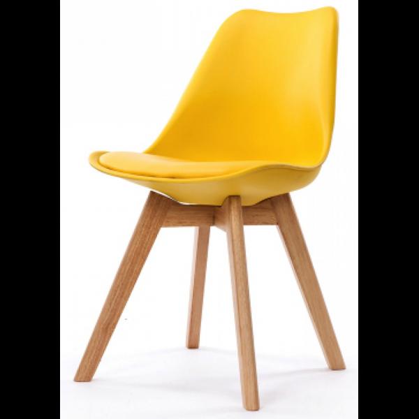chaise design style scandinave jaune esben 3 suisses. Black Bedroom Furniture Sets. Home Design Ideas