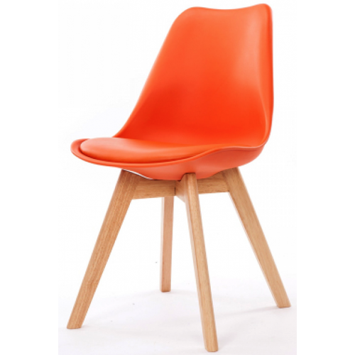 3S. x Home - Chaise Design Style Scandinave Orange HADES - Chaise