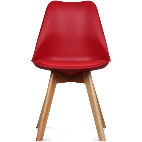 chaise design style scandinave rouge esben 3 suisses. Black Bedroom Furniture Sets. Home Design Ideas