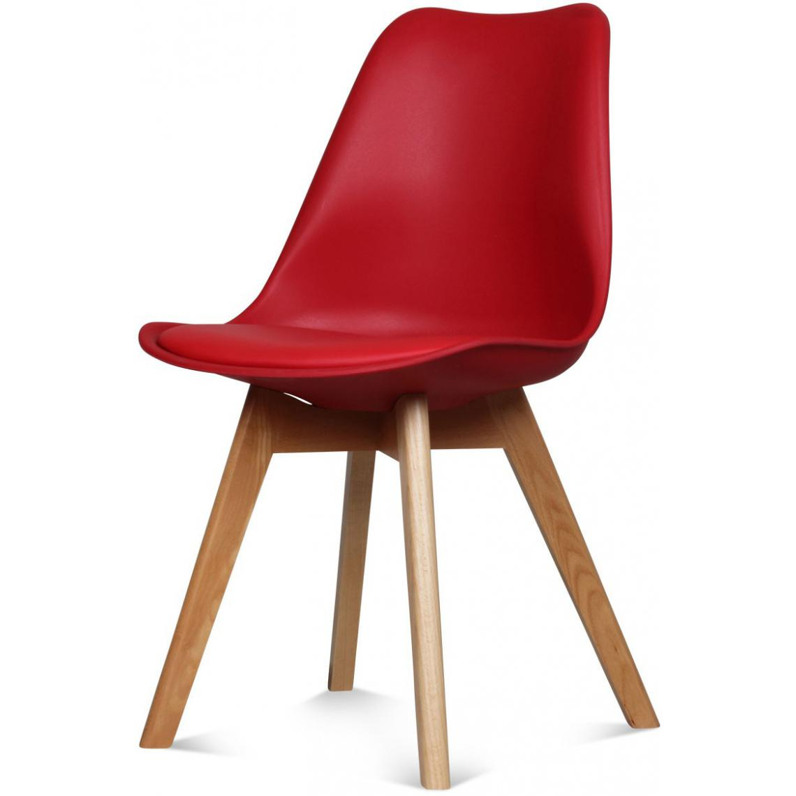 chaise design style scandinave rouge esben 3suisses. Black Bedroom Furniture Sets. Home Design Ideas