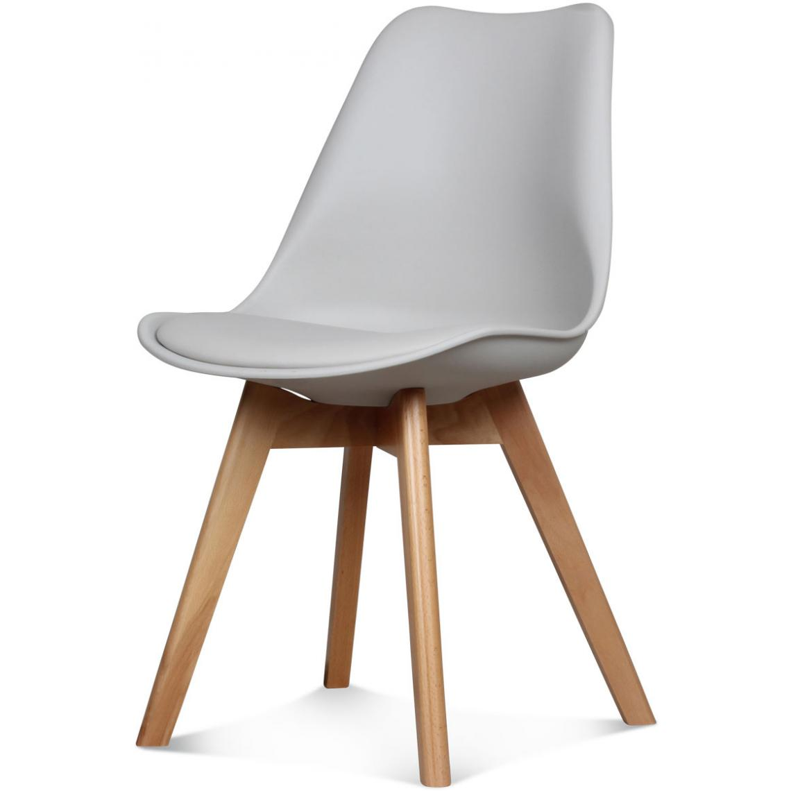 chaise design style scandinave taupe esben 3suisses. Black Bedroom Furniture Sets. Home Design Ideas