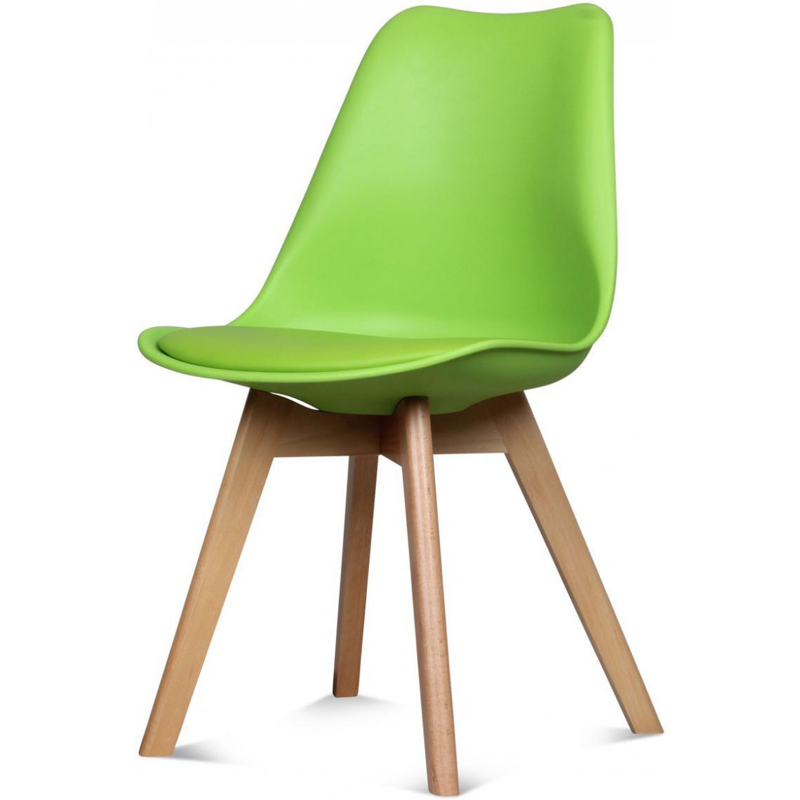 chaise design style scandinave vert esben 3 suisses. Black Bedroom Furniture Sets. Home Design Ideas