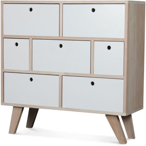 3S. x Home - Commode Bois Blanc MONTREAL - Commode