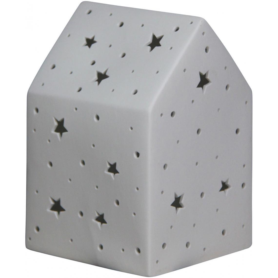 A Casalight3 Etoiles Porcelaine En Motifs H19 Maison Lampe Poser 35SLAc4Rqj