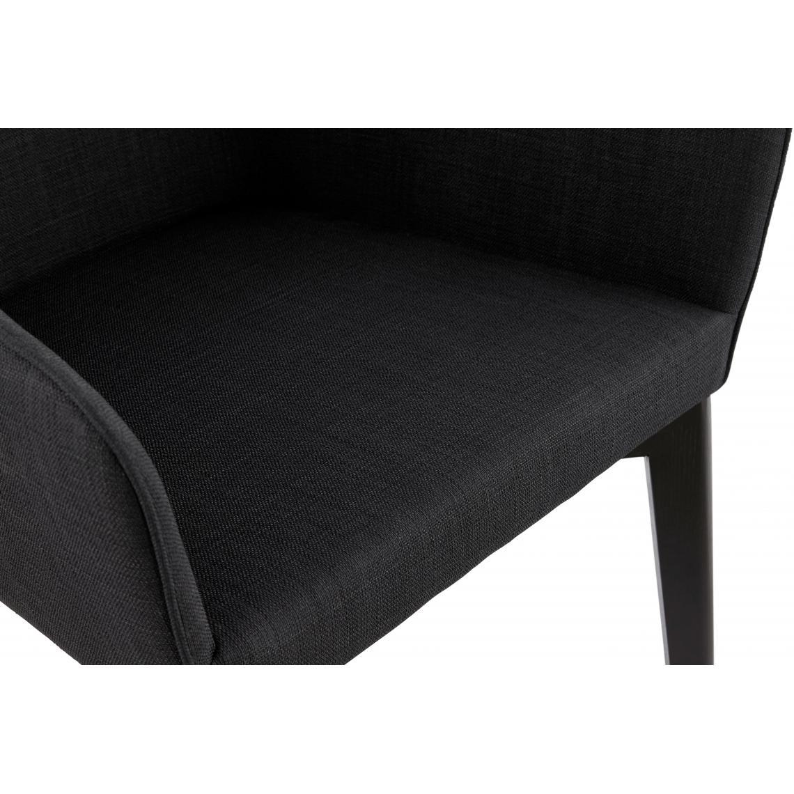 Fauteuil Scandinave Noir Tissu GRIGY | 3 SUISSES