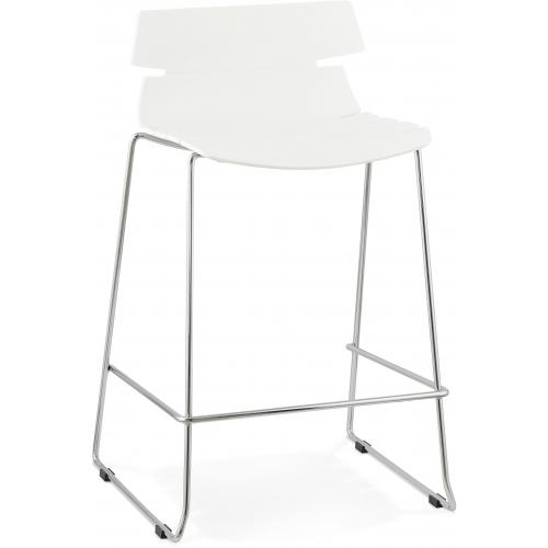 3S. x Home - Tabouret de bar design blanc DANDY - Tabouret de bar