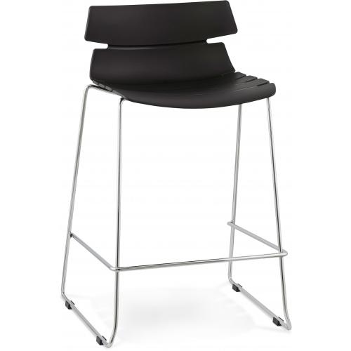 3S. x Home - Tabouret de bar design noir DANDY - Tabouret de bar