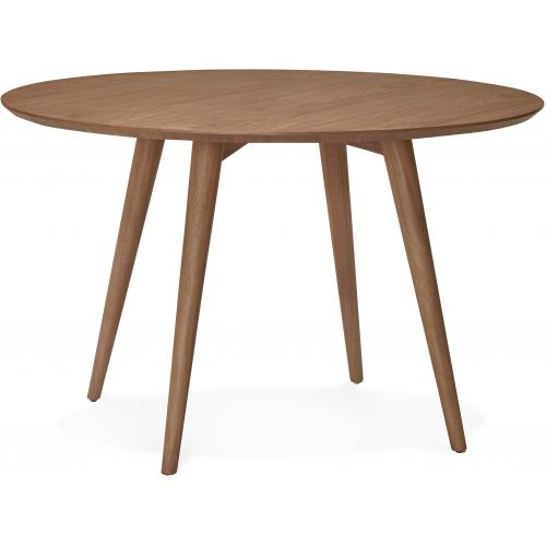 3S. x Home - Table à Manger Ronde Bois Noisette D120 RUFFY - Table