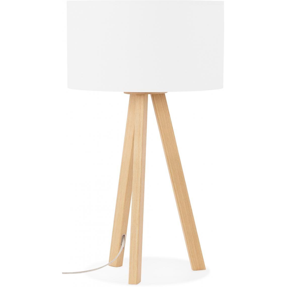 Lampe Scandinave Abat Jour Blanc TORNBY | 3 SUISSES